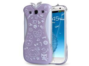 Samsung Galaxy S3 Case - Oriental Chinese Cheongsam Dress Design Hard PC Back Case Cover For Girls For Samsung Galaxy S3 SIII I9300 Purple