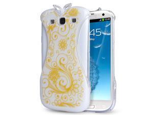Samsung Galaxy S3 Case - Oriental Chinese Cheongsam Dress Design Hard PC Back Case Cover For Girls For Samsung Galaxy S3 SIII I9300 Orange