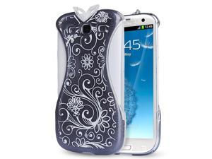 Samsung Galaxy S3 Case - Oriental Chinese Cheongsam Dress Design Hard PC Back Case Cover For Girls For Samsung Galaxy S3 SIII I9300 Black
