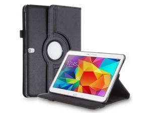"Samsung Galaxy Tab Pro 10.1 / Note 10.1 Case - 360 Degree Rotating PU Leather Smart Cover Stand For Samsung Galaxy Tab Pro 10.1"" T520 T525 and Galaxy Note 10.1"" N8000 N8010 N8013 Black"