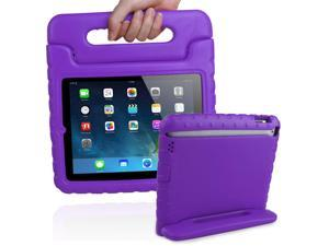 Apple iPad 2/3/4 Case - Kids Children Shock Proof Impact Resistant Convertible Handle Light Weight Super Protective Stand Cover Case - For iPad 4th Gen, the New iPad 3 & iPad 2 - Purple
