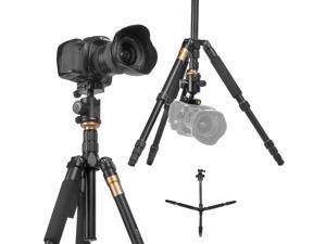 Q-666 SLR Camera Tripod Monopod & Ball Head Portable Compact Travel