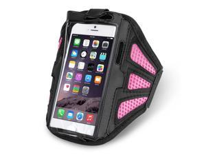 """iPhone 6s Plus Armband (Pink) - Sports Gym Bike Cycle Jogging Workout Running Walking Armband Sportband Case Cover for iPhone 6s 6 Plus (5.5"""") Samsung Galaxy Note 4 / 3 / 2 & Droid Turbo LG G4 / G3"""