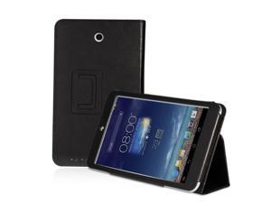 ASUS MeMO Pad 8 ME180A Case - Slim Fit Folio PU Leather Smart Cover Stand For ASUS MeMO Pad 8 ME180A Tablet with Auto Sleep & Wake Feature Black