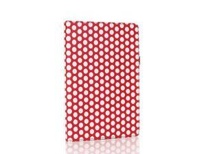 Google Nexus 7 Case- Slim Fit Folio PU Leather Case Smart Cover Stand For Google Nexus 7 2nd Gen 2013 Version with Auto Sleep & Wake Feature and Pen Loop / Stylus Holder / SD Card Slots Polka Dot Red