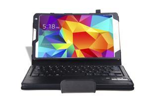 """Samsung Galaxy Tab S 8.4"""" Keyboard Case - Wireless Bluetooth Keyboard Leather Cover Stand For Samsung Galaxy Tab S 8.4"""" T700 T701 T705 with Detachable Removable Keyboard and Auto Sleep & Wake Black"""