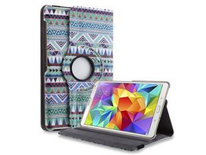 """Samsung Galaxy Tab S 8.4"""" Case - 360 Degree Rotating PU Leather Smart Cover Case Stand For Samsung Galaxy Tab S 8.4"""" T700 T701 T705 with Auto Wake & Sleep and Stylus Holder Nation B"""