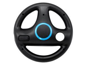 Steering Wheel for Nintendo Wii Mario Kart Remotes Controller Racing Game Black Multi Angle X Y Z Axis