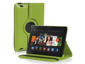 Amazon Kindle Fire HD 6 Case - 360 Degree Rotating PU Leather Case Smart Cover Stand For Amazon Kindle Fire HD 6 2014 Model with Wake & Sleep Feature and Stylus Holder Green