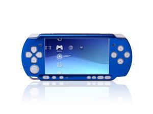 PSP 3000 Case Aluminum Metal Protective Circle Hard Clip On Skin Cover Full Shell Replacement Compatible with Sony Play Station Portable 3000 with Button Set Blue
