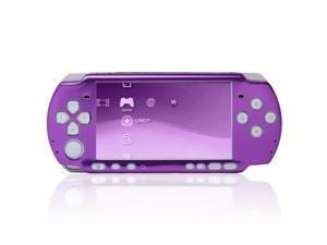 Aluminum Metal Protective Circle Hard Case Skin Cover for Sony PSP 3000 Purple