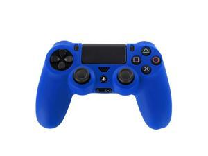 PS4 Controller Case (Navy Blue) - Soft Anti-Slip Silicone Grip Case Protective Shell Cover Skin for Sony Playstation 4 PS4 Wireless Game Gaming Controller [PlayStation 4]