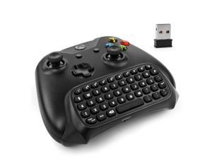 Xbox One Keyboard - 2.4Ghz USB Wireless Mini Bluetooth Chatpad Keypad Adapter Keyboard 47 Keys for Microsoft Xbox One Game Controller - Best Text Messenger for Xbox One Black