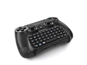 PS4 Bluetooth Mini Wireless Chatpad Message Game Controller Gamepad Joystick Keyboard for Sony Playstation 4 PS 4 Controller Black