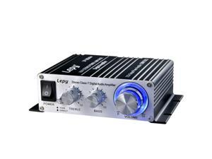 Lepy LP-2024A+ 20W Hi-Fi Class-T Digital Audio Amplifier Stereo Power Amplifier Car Amplifier with Power Supply, 3A Power , 20W x 2 RMS Black