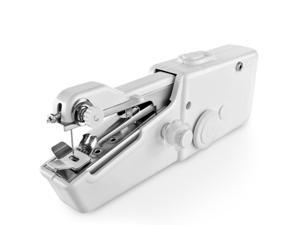 Handheld Sewing Machine Mini Portable Handy Electric Household Quick Stitch Tool for Easy Repair DIY Fabric Clothes in Home or Travel Use with Threads Needles Accessories