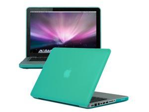 Macbook Pro 13 Case Green - Rubber Coated Hard Snap-on Shell Case Cover Skin for MacBook Pro 13 inch (Not Fit For Macbook Pro 13 with Retina Display)