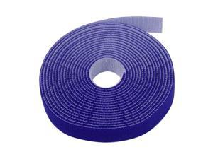 "Hook And Loop Tape Strap Cable Ties Fastener (Blue) (15 Feet) - Sticky Self Adhesive Nylon Fabric Roll Wrap 0.75"" Wide 5 Yards Reusable For Cutting Custom Length Cord Wire Fastening"