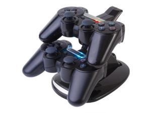 PS3 Charging Station - Dual Dock USB Charger Station Cradle Stand Base Dualshock for Sony Playstation 3 Wireless Game Controller ...