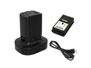 Xbox 360 2 Pack Rechargeable Battery Pack + Dual Charging Station Dock Stand Base (Black) for Xbox 360 Wireless Controller