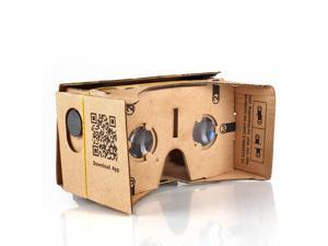 Google Cardboard Kit 3D Virtual Reality Glasses DIY Valencia Quality Tool Compatible with 5-inch Screen Android and Apple Smartphone Easy Setup Machine Cut Construction 25mm Lenses