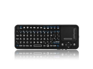 Bluetooth Mini Wireless Keyboard with Backlight and Multi-Touchpad for Google Nexus 7 / Google Android TV / iPhone 6s 6 Plus 5S 5C 4S Samsung Galaxy S6 Edge / HTPC / PC / Android 3.0 Tablet / Mac OS