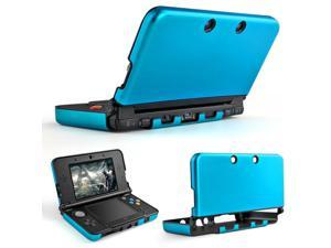 Plastic + Aluminium Full Body Protective Snap-on Hard Shell Skin Case Cover Light Blue for New Nintendo 3DS 2015