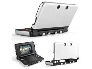 Plastic + Aluminium Full Body Protective Snap-on Hard Shell Skin Case Cover Silver for New Nintendo 3DS LL XL 2015