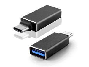 """Hi-speed Micro USB 3.1 Type C Male to Standard Type A USB 3.0 Female Adapter Converter Connector Reversible Design for the New 2015 Apple MacBook 12"""" Black"""