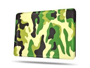 MacBook Pro 13 Retina Case - Soft-Touch Plastic Matte Hard Shell Protective Case Cover Skin for Apple MacBook Pro 13 Inch A1425 A1502 with Retina Display Camouflage Army Green