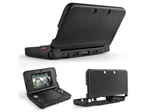 3DS XL LL Case (Black) - Full Body Protective Snap-on Hard Shell Aluminium Plastic Skin Cover for Nintendo 3DS XL LL 2012 Original Model