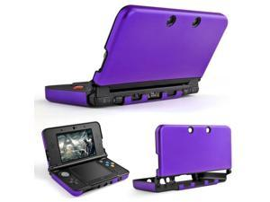 3DS XL LL Case (Purple) - Full Body Protective Snap-on Hard Shell Aluminium Plastic Skin Cover for Nintendo 3DS XL LL 2012 Original Model