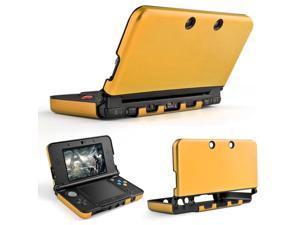 3DS XL LL Case (Gold) - Full Body Protective Snap-on Hard Shell Aluminium Plastic Skin Cover for Nintendo 3DS XL LL 2012 Original Model