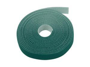 """Hook And Loop Tape Strap Cable Ties Fastener (Green) (15 Feet) - Sticky Self Adhesive Nylon Fabric Roll Wrap 0.75"""" Wide 5 Yards Reusable For Cutting Custom Length Cord Wire Fastening"""