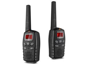 Handheld Walkie Talkie - 22 Channel GMRS/PMR/FRS 2 Way Radio Transceiver 2 Miles (Up to 3 Miles) Range UHF Call Wireless Phone Interphone Electronic Toy for Outdoor Camping Hiking Black (1 Pair)