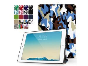 """iPad Pro 9.7 Case - Slim Lightweight Shell Smart Cover Stand, Hard Back Protection with Auto Sleep Wake for Apple iPad Pro 9.7"""" Inch 2016 Release (Camouflage Blue)"""