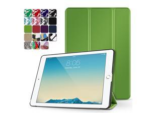 """iPad Pro 9.7 Case - Slim Lightweight Shell Smart Cover Stand, Hard Back Protection with Auto Sleep Wake for Apple iPad Pro 9.7"""" Inch 2016 Release (Green)"""