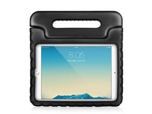 iPad Case - Kids Shock Proof Soft Light Weight Childproof Impact Drop Resistant Protective Stand Cover Case with Handle for Apple iPad 2/3/4 (Black)