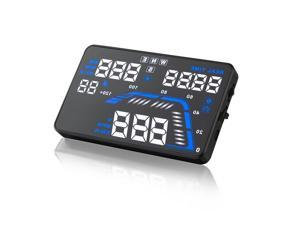 """Car Head Up Display 5.5"""" Universal GPS HUD Vehicle-Mounted Projector Driving Information-Speed Data, Over Speed Warning Speedometers, Compatible with All Cars, Trunks, Van, Bus Plug and Play"""