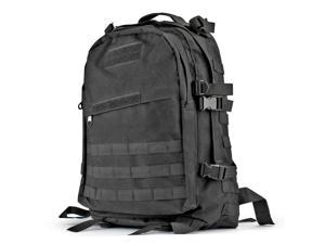 Military Tactical Backpack (Black) Outdoor Camping Hiking Hunt Trekking Assault Rucksack Travel Molle Daypack Bag Expandable Waterproof 40L Capacity
