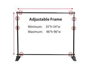 Backdrop Stand - Telescopic Banner Stand 8'x8' Step and Repeat Adjustable Photographic Back Ground Expanding Display for Trade Show Exhibitions Wall Exhibitor with Carrying Case