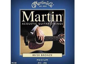 Martin Acoustic Guitar Strings - 80/20 Bronze - Medium Gauge - 13-56 - M150