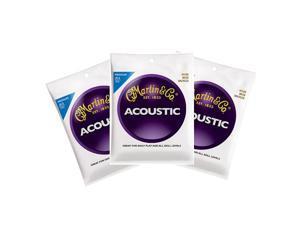 Martin 80/20 Bronze Acoustic Guitar Strings Medium 13-56 M150 3 Packs