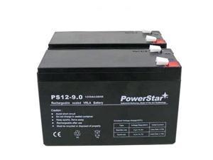 PowerStar® Replacement APC BACK-UPS XS 1300VA BX1300LCD REPLACEMENT BATTERY (2) 12V 9.0ah Batteries