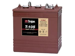 Trojan T-105 Deep-Cycle Flooded Golf Cart Battery