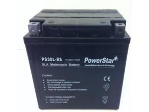 PowerStar PM30L-BS, Motorcycle Battery For Harley 66010-97C