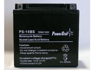PowerStar PS-14BS Motorcycle Battery  fits/replaces Harley 65948-00, 65948-00A