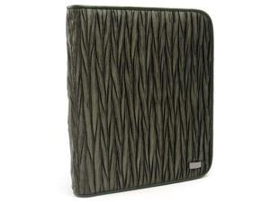 JAVOedge Chevron Scrunch Book Case for the Barnes & Noble Nook Simple Touch Reader, Nook Glowlight (Olive)
