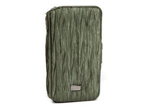 JAVOedge Chevron Scrunch Book Case for Apple iPhone 4/4S (Olive)