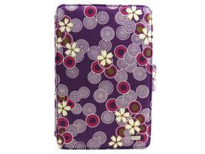 JAVOedge Purple Cherry Blossom Print Fabric Axis 360 Rotating Smart Cover Case with Stand for the Amazon Kindle Fire 7""